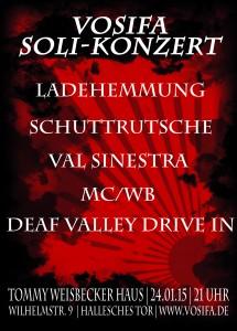 Soli-Konzert am 24. Januar